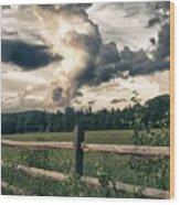 June Thunderstorms Along Connecticut River Wood Print