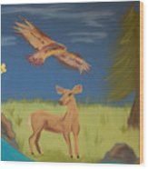 June Totems Wood Print