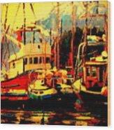 Juneau Boats Wood Print