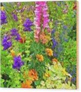 Juneau Has Flowers Wood Print