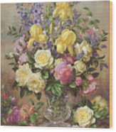 June's Floral Glory Wood Print