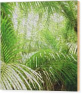 Jungle Abstract 1 Wood Print