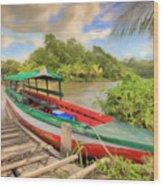 Jungle Boat Wood Print