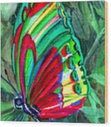 Jungle Butterfly Wood Print