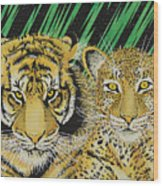 Jungle Cats Wood Print