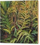 Jungle Ferns Wood Print