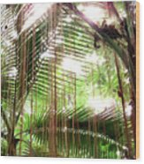 Jungle In There Wood Print