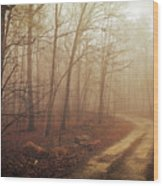 Jungle Journey - The Path Sepia Wood Print