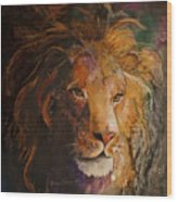 Jungle Lion Wood Print