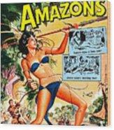 Jungle Movie Poster 1957 Wood Print