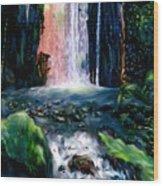 Jungle Pool Wood Print