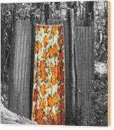 Jungle Shower Wood Print