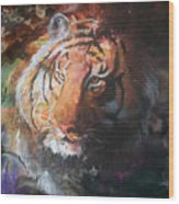 Jungle Tiger Wood Print