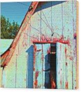 Junior's Barn Window Wood Print