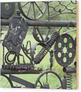 Junk Art Wood Print by Marilyn West