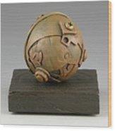 Junkyard Dog Ball Wood Print