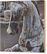 Junkyard Horse Wood Print