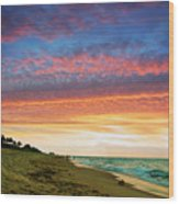 Juno Beach Florida Sunrise Seascape D7 Wood Print