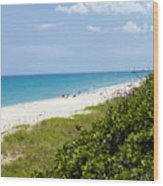 Juno Beach On The East Coast Of Florida Wood Print
