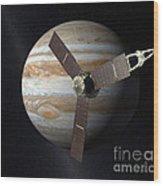Juno Mission To Jupiter Wood Print