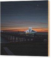 Juno Pier Daybreak Wood Print
