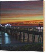 Juno Pier Twilight Wide Wood Print