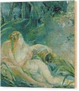 Jupiter And Callisto Wood Print