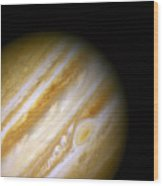 Jupiter And The Great Red Spot Wood Print