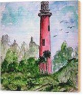 Jupiter Florida Lighthouse Wood Print