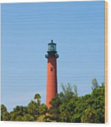 Jupiter Light In Florida Wood Print