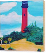Jupiter Lighthouse Wood Print