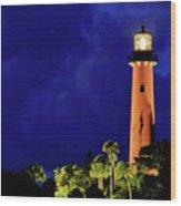 Jupiter Lighthouse Wood Print