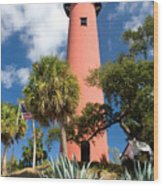 Jupiter Lighthouse II Wood Print