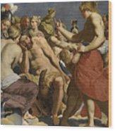 Jupiter Rebuked By Venus On Mount Olympus  Wood Print