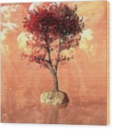 Jupiter Rising Wood Print