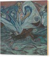 Jupiter Surf Wood Print