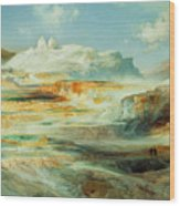 Jupiter Terrace  Yellowstone Wood Print