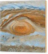 Jupiterian Storm Of The Century Wood Print