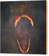 Jurassic Terror Wood Print