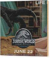 Jurassic World Fallen Kingdom 2.5 Wood Print