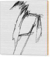 Just A Horse Sketch Wood Print