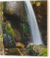 Just A Very Small Waterfall II Wood Print