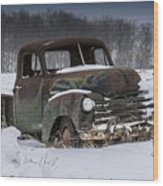 Just An Old Pickup Truck Wood Print