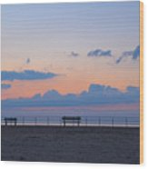 Just Before Sunrise In Asbury Park Wood Print