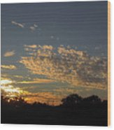 Just Before Sunset Wood Print