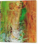 Just Being - Abstract Art Wood Print