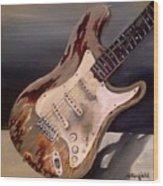 Just Broken In- Old Guitar Wood Print