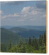 Just Climb Mountains And Breathe Deeply Wood Print