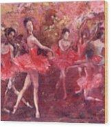 Just Dancing Wood Print
