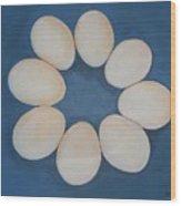 Just Eggs Wood Print